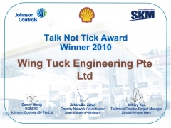 Talk Not Tick Award Winner 2010